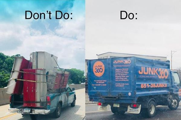 Junk removal, Junk hauling, junk disposa, Junk360, minneapolis junk removal, st. paul junk removal, twin cities junk removal, junk removal best practice, safe junk removal, burning junk, dumping junk, junk on the street